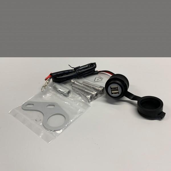 USB Doppelanschluss 12V Bordnetz 8mm Lenkerbefestigung